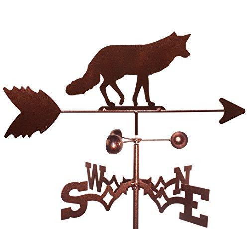 MONTGOMERY INDUSTRIES Fox Weathervane with Garden Mounting