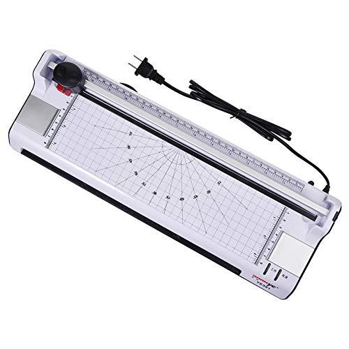 Laminiermaschine Für A3 / A4 / A5 / A6 Thermische Laminiermaschine Für Home Office Schule Mit A4 50 Beutel Papierschneider-Spanien_Weiß