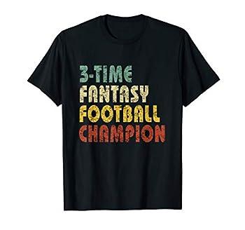 3 Time Fantasy Football Champion T-Shirt