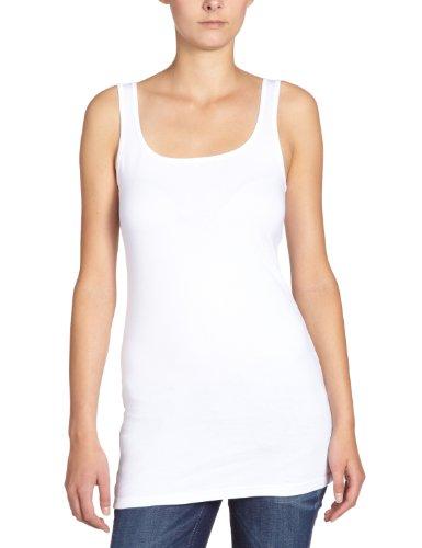 VERO MODA Damen Top MAXI MY LONG TANK TOP, Gr. 36 (Herstellergröße: S), Weiß (OPT.WHITE)