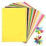 200 Hojas Papel A4 de Colores, 20 Colores Papel para Origami, 80gsm Papel para Papiroflexia, A4 Papel de Impresión, Papel Manualidades Niños Cartulina para Bricolaje Dibujo Decoración Boceto Corte