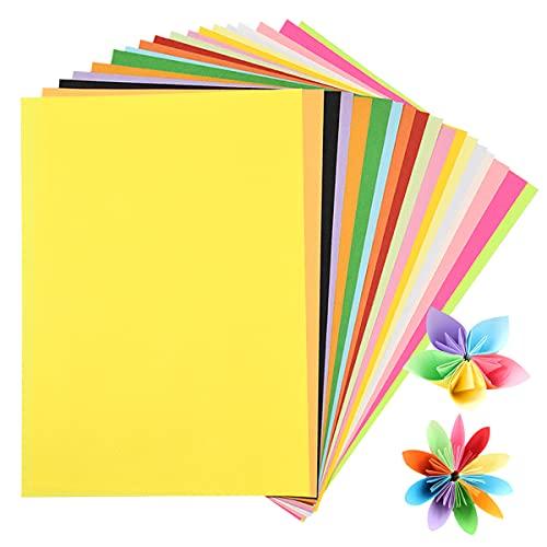 200 Fogli Carta Colorata A4 Stampante, 20 Colori Carta Origami, 80gsm Cartoncini Colorati A4 per Lavoretti Bambini Progetti Artistici e DIY Artigianato Disegno Abbozzare