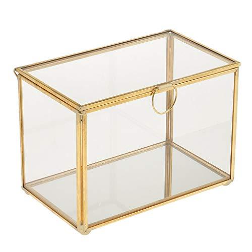 Tubayia Mini Geometrische Glas Terrarium Box Pflanzgefäß Schmuckkästen für Haus Tisch Dekoration