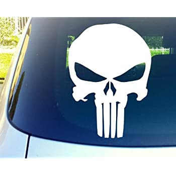 The Punisher Skull Die-Cut Vinyl Decal Sticker     20 Colors Available