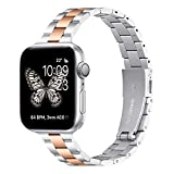 Thin Metal Band Compatible with Apple Watch 38mm 40mm...
