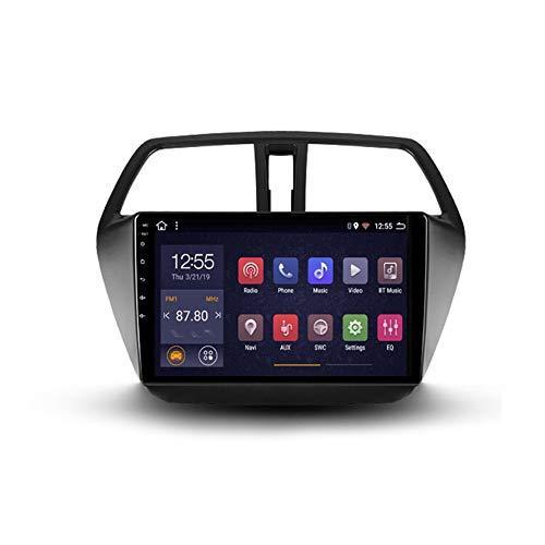 Autoradio Android 2 Din Con Bluetooth Per Auto 9'' IPS Touchscreen Wifi Auto Info Plug And Play Completo RCA Supporto Carautoplay/GPS/DAB+/OBDII Per Suzuki SX4 2 S-Cross,Quad core,Wifi 2G+32G