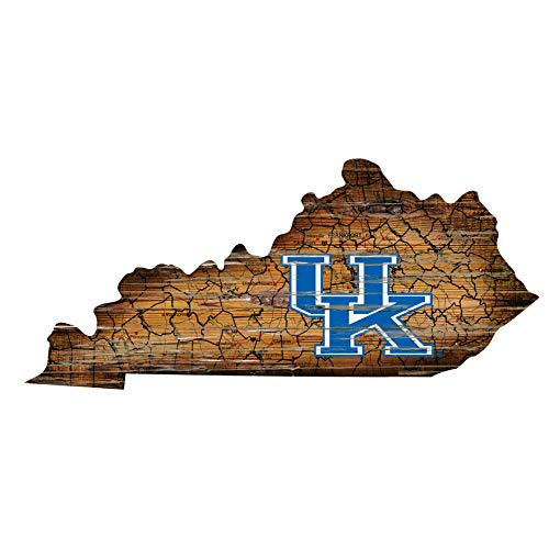Fan Creations NCAA Kentucky Wildcats Unisex University of Kentucky Mini Roadmap State Sign, Team Color, 12 inch