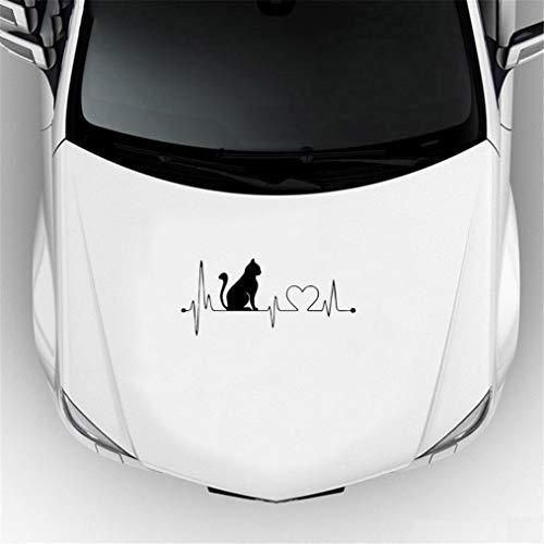 Etiqueta engomada de gato dibujo animado Ventana de Coche Laptop PC de Skate Vinilo JDM Auto Pared Calcomanía