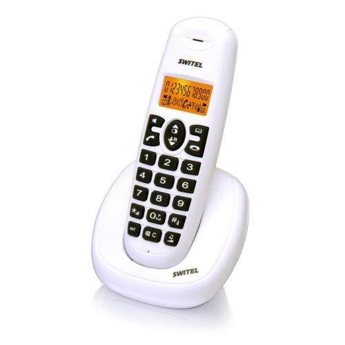 SWITEL DE 331 - Teléfono (Teléfono DECT, Altavoz, 10 entradas, Identificador de Llamadas, Blanco): Amazon.es: Electrónica