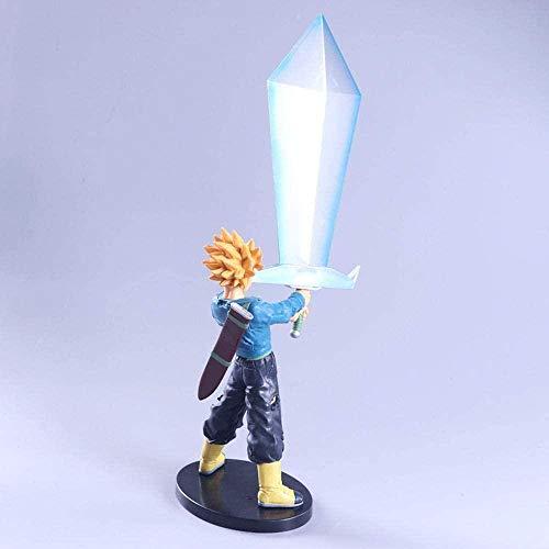 LHLBD Dragon Ball Super Saiyan Trunks Espada de la Esperanza Modelo de Personaje de Anime Decoración Figura de acción 36CM -Primera Clase