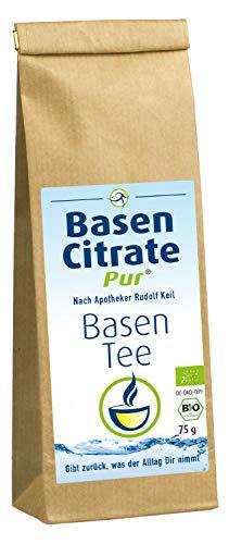 MADENA BasenCitrate Pur Basentee, basischer Kräutertee, 100% Bio lose Kräuter 75g für Basenfasten Entschlacken