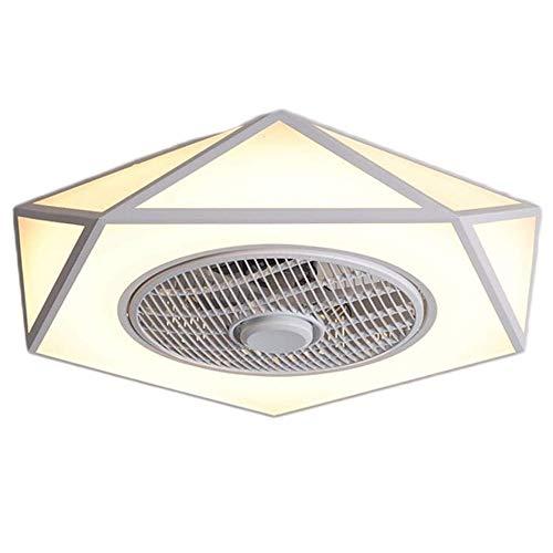 TGRBOP Ventilador De Techo Silencioso Minimalista Nórdico Con Iluminación Luz De Techo Con Ventilador Silencioso LED Regulable Moderno Con Control Remoto Lámpara De Ventilador Silenciosa Para Sala De