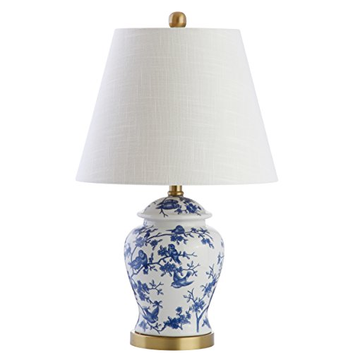 "JONATHAN Y JYL3005A 22"" Chinoiserie LED Table Lamp, Blue/White, Classic, Traditional, Bulb Included"