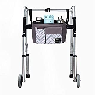 Walker Rollator Accessory Bag, Hands Free Walkers Bag,Universa Wheelchair Storage Tote Bag - Folding Walkers Organizer Pou...
