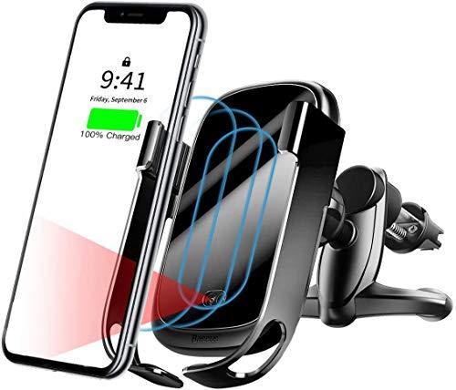 Baseus Chargeur sans Fil de Voiture, Auto sans Fil à Induction, Charge Qi 10w pour Galaxy S10 S9 S8 S8 + S7 Edge, Charge Standard pour iPhone XS XR XSMax X 8 Plus Huawei Mate 20 Pro P30 Pro
