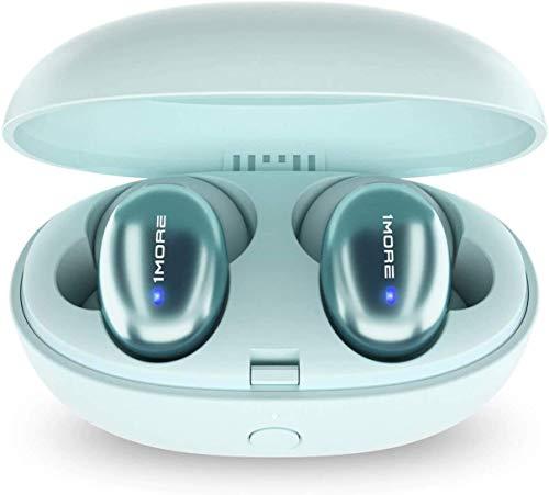 1MORE ワイヤレスイヤホン Bluetooth 5.0 最大24時間再生 aptX AAC 対応 ステレオ高音質 通話マイク内蔵 自動ペアリング 重低音重視 防水 Stylish TWS-I (グリーン)