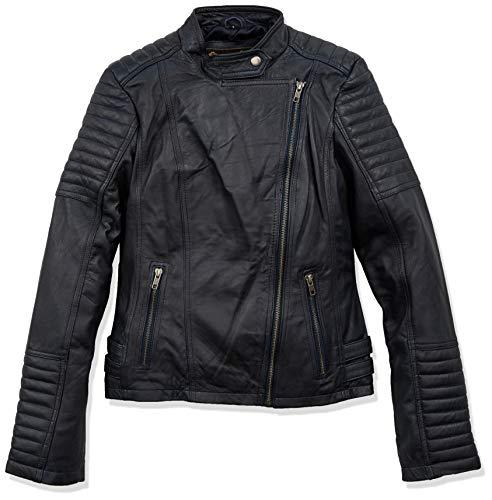 Urban Leather UR-218 Sylvia Fashion Chaquetas de Cuero para Dama, Craft Gris, Talla L