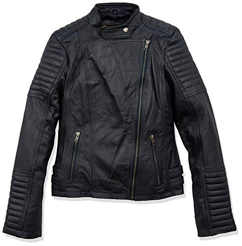 Urban Leather Fashion Lederjacke - Sylvia, Navy Blue, L