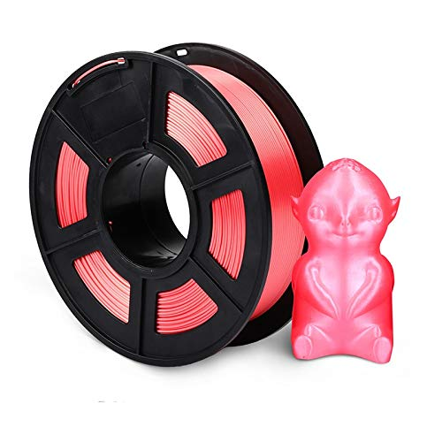 TongGuo 1.75mm PLA SILK Rainbow 3D printer Filament tangle free 100% no bubble with Vacuum bag packing Tolerance +/-0.02mm (Color : SILK RD 1KG)