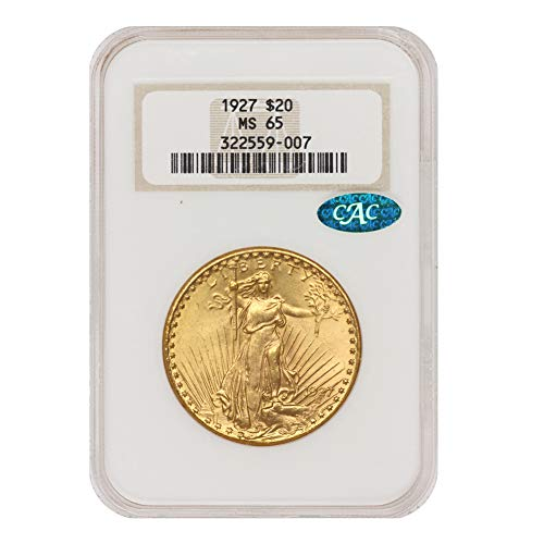 1927 American Gold Saint Gaudens Double Eagle MS-65 by CoinFolio $20 MS65 NGC/CAC