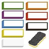 LOPOTIN 40pcs Etichetta Magnetica cancellabile, Etichetta Magnetica Colorata per Scrittura...