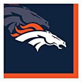 Creative Converting Officially Licensed NFL Paper Beverage Napkins, 192-Count, Denver Cowboys
