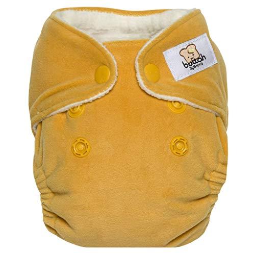 GroVia Buttah Newborn All in One Snap Reusable Cloth Diaper (AIO) (Yarrow)