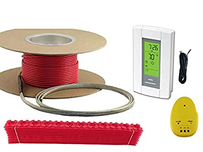 40 Sqft Cable Set, Electric Radiant Floor Heat Heating System with Aube Digital Floor Sensing Thermostat
