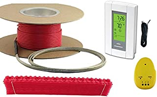 100 Sqft Cable Set, Electric Radiant Floor Heat Heating System with Aube Digital Floor Sensing Thermostat
