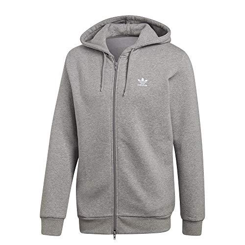 adidas Originals Trefoil Fleece Kapuzenjacke Grau