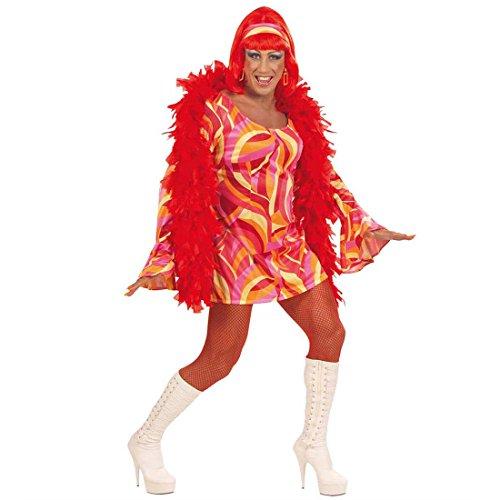 NET TOYS Costume Drag Queen Arancione Trans travestito Anni 70 Abito Uomo - XL 58/60