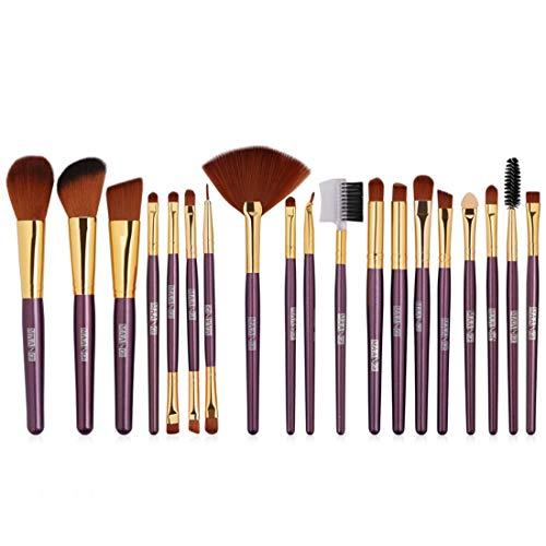BXGZXYQ Maquillage pinceaux 26 Pcs Premium Kabuki Synthétique Fondation Mélange Fard À Paupières Visage Brosse Set Fibre Cheveux Brosse (Couleur : Violet)
