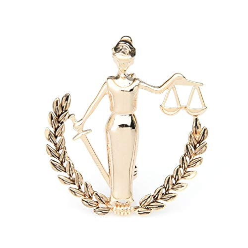 CLEARNICE Gold Color Libra Constellation Brooches Women Metal Party Banquet Brooch Pins Gifts