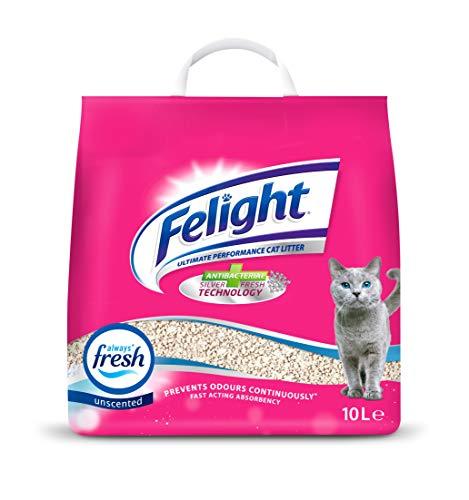 Felight Unscented Non-clumping Odour Control Cat Litter, 10 Litre