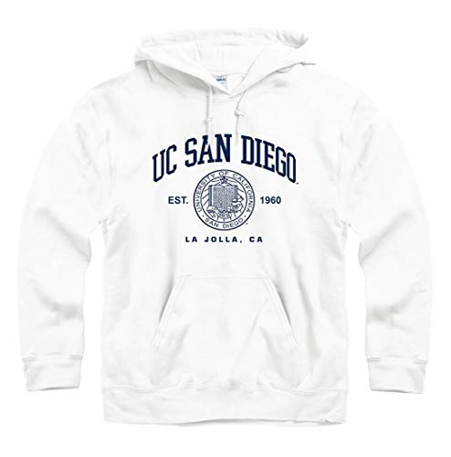 New Agenda University of California San Diego UCSD Hoodie Sweatshirt-White