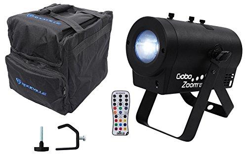 Chauvet DJ Gobo Zoom USB Custom Gobo Projector Light W/10 Gobos+Bag+Clamp+Remote