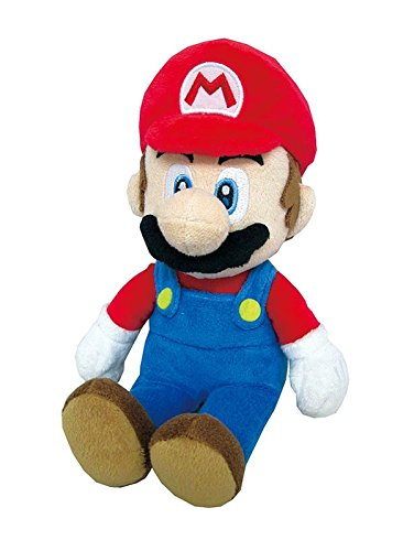 Little Buddy Super Mario All Star Collection 1414 Mario Stuffed Plush, Multicolored,9.5'