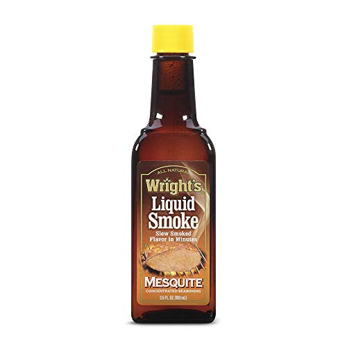 Wrights Mesquite Liquid Smoke - Spice for Cooking - Fat-Free, Cholesterol-Free, Low-Calorie, Kosher Seasoning, 103 Grams (Pack of 3)