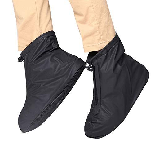 SHOULIEER Hombres Mujeres Accesorios Protectores de Cubiertas de Zapatos Viaje Reutilizable Calzado Botas de Lluvia elásticas engrosadas L