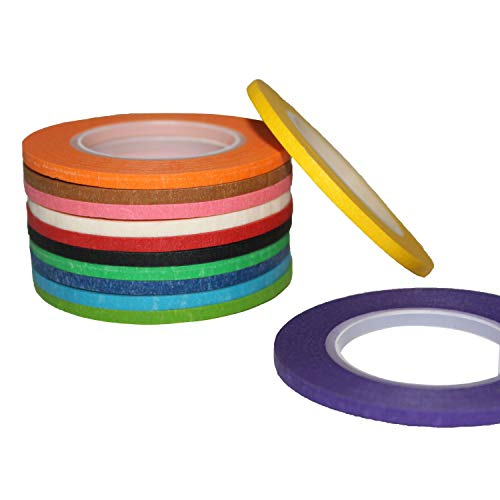 """12 Colors Rolls Whiteboard Gridding Tape Grid Marking Tapes 1//8/""""Wide X 42/' Long"""