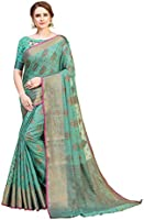 Amazon Brand - Anarva Women's Banarasi Silk Blend Saree With Blouse Piece