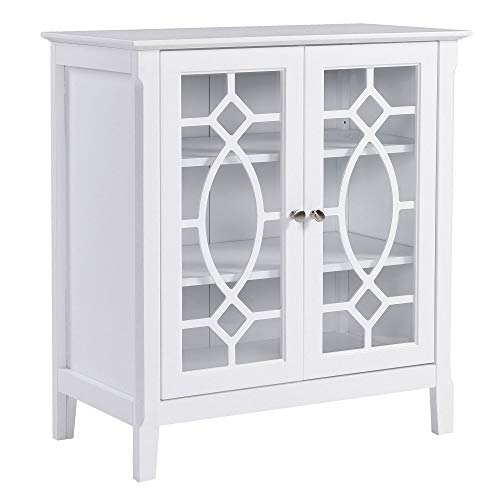 HOMCOM Sideboard Display Cabinet with Double Framed Glass Doors