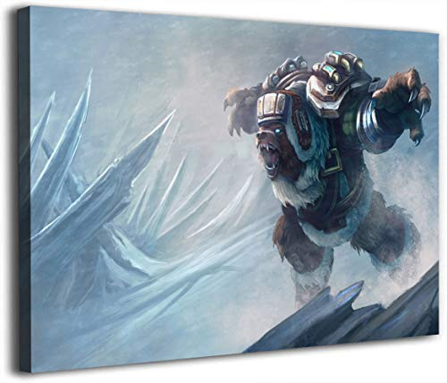League Legends - Lienzo decorativo para pared (45,72 x 60,96 cm), diseño de Volibear Northernstorm
