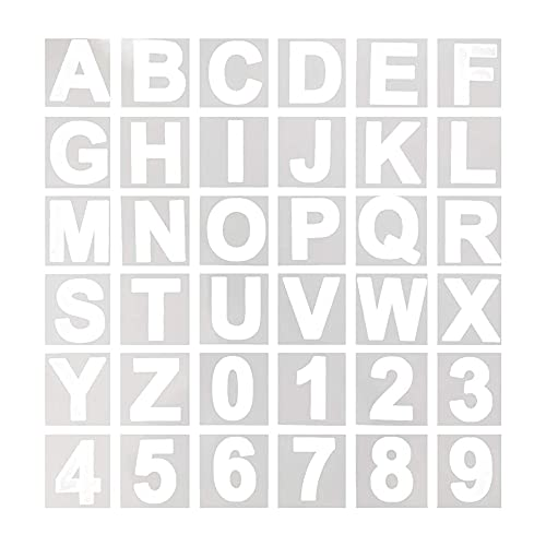 Plantilla de letras del alfabeto, 12,7 cm, reutilizable, plástico, para madera, pared, pizarra, aprendizaje de pintura, decoración del hogar, proyectos de arte de bricolaje escolar
