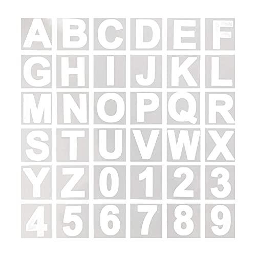 MMDOCO Abc-Buchstaben-Schablonen, wiederverwendbare Buchstaben- und Zahlenschablonen aus Kunststoff für Holz, Wand, Schiefertafel, Malen lernen, Basteldekorationen Zuhause, 36 Stück, 12,7 cm