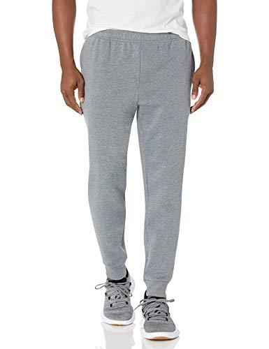 Amazon Essentials – Pantalón de chándal de forro polar para hombre, Gris (Light Gray Heather), US L (EU L)