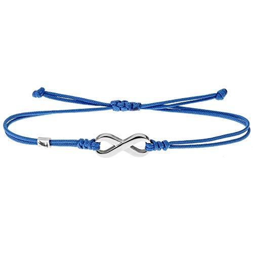 Wind Passion Bracciale Blu Corda con Ciondolo Infinito, Braccialetto Kabbalah Stringa Nautica Regolabili per Uomo Donna Bambini
