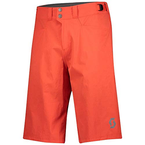Scott Trail Flow - Pantaloncini da ciclismo corti (incl. pantaloni interni) Fiery, colore: rosso, taglia S (44/46)