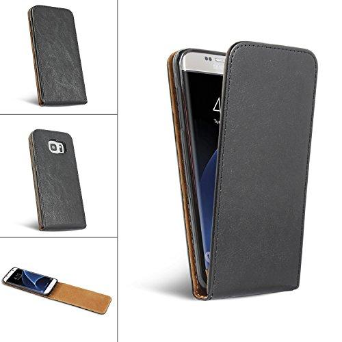 Bralexx Flip Elegante Echt Ledertasche, Rundumschutz durch Silikon-Innenschale schwarz (Lenovo K6 Note)