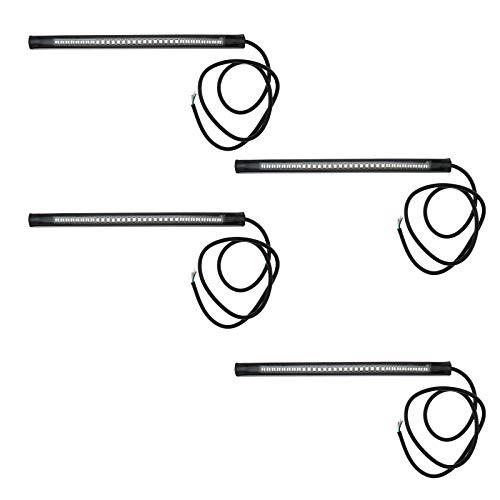 Create idea 4pcs Clignotant Moto Bande LED Lumière Flexible Bendable 12 V Étanche Universel Queue de Frein Arrêt Clignotants Lumières
